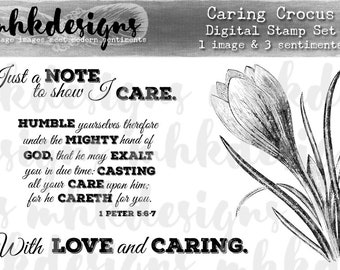 Caring Crocus Digital Stamp Set