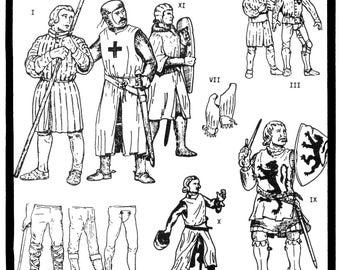 Medieval Military Garments Sewing Pattern size S-XL Period Patterns 101