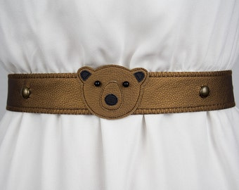Bear Belt (Metallic) ~ Handmade ~ Only 1 Left!