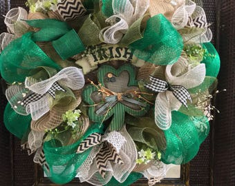 St Patrick's Day Wreath