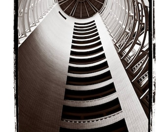 Elevation - Architectural Fine Art Print with Spherical or Round lines