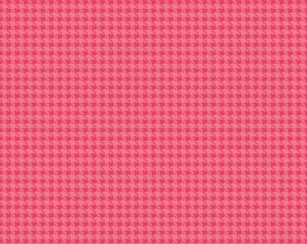 Hounds Tooth in Pink 100% Cotton Riley Blake Roundup! Fabric Collection Sold by a 4th, Half, 3/4 a Yard or a Yard  Sewing/Quilting/Applique