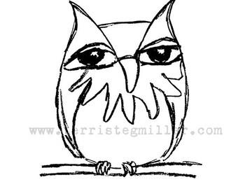 Thermofax Screen - Owl