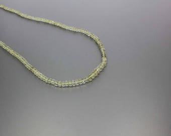 Scapolite Faceted Rondelle Beads 3 to 6mm AA Necklace for Women