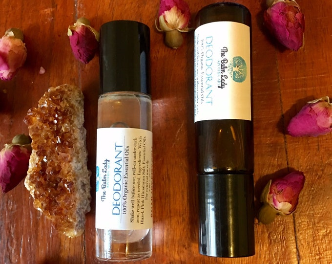 Essential Oil Deodorant Organic All Natural Deoderant Liquid Roll On 8 ml great smelling, extremely effective, pocket-sized, travel size
