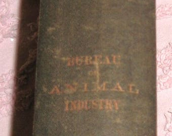 Special Report on Diseases of the Horse Hardback Book Dr. D. E. Salmon Chief Bureau Animal Industry Printed 1896 Washington  576 Pages