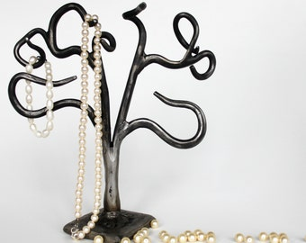 Jewelry organizer/  Jwelry tree/ Necklace holder/ Hand forged jewelry hanger/ jewelry stand