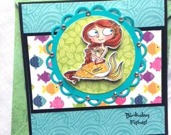 Mermaid Card,Ocean Card, Beach Card, Friendship Card, Birthday Card
