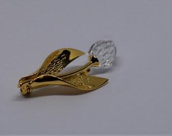 Swarovski vintage crystal tulip brooch