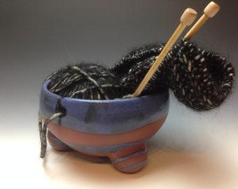 Ceramic Striped Yarn Bowl