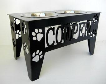 Custom Raised Dog Bowl Stand - Large