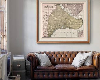 Constantinople Map 1901, Istanbul Map, Old Map of Istanbul, Rome Map, Home Decor, Vintage Map - CP171
