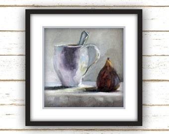 Breakfast Fig - Painting Print