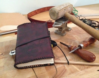 Leather Steampunk Engineer's Notebook