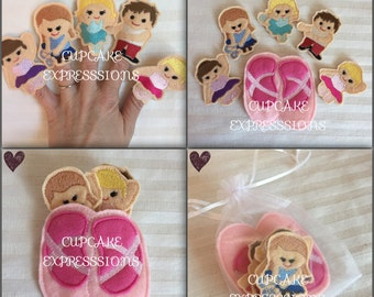 Ballerina Finger Puppet Set - 6pcs  - Comes with Carrying Case - Quiet Time Play Toy - Ballet, Dance, Tutus