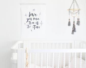 Baby mobile, nursery mobile, boho nursery decor, tassel decor, crib mobile, boho mobile, dream catcher mobile, bohemian mobile, cot mobile