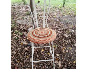 Chair iron woven crochet