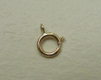 14K Real Gold Spring Clasp, Solid 14K Yellow Gold Spring Clasps, Wholesale Gold Findings