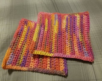 Crochet wash cloth set