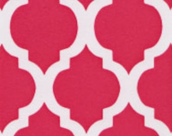 Fabric Finders Quatrefoil Fabric by the Yard, Pink Fabric Yardage, Cotton Fabric, Fat Quarters