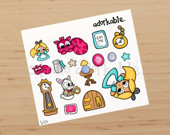 Bits in Wonderland Glossy Stickers / S103