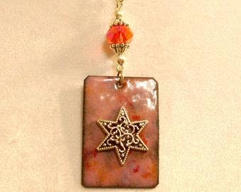 Copper Enameled Pendant - 02608