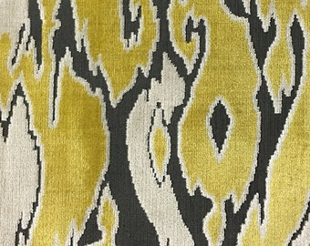 Upholstery Fabric - Harrow - Sunny - Abstract Cut Velvet Home Decor Upholstery, Drapery & Pillow Fabric by the Yard - Available in 16 Colors