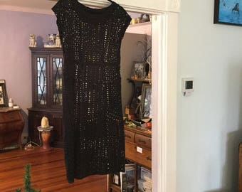 1960s Black Lace Dress