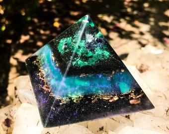 Violet Flame Orgone Pyramid ~ Alchemy Crystal Pyramid