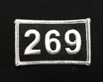 269 embroidered patch