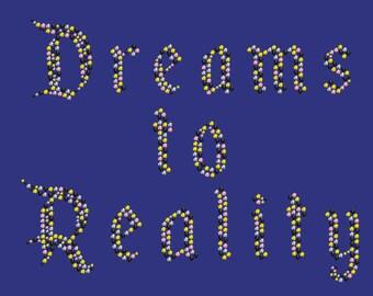 Custom Bling Rhinestone Transfer - Dreams to Reality