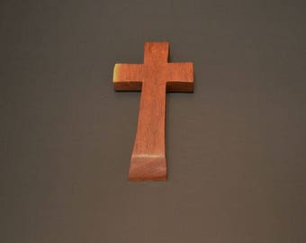 """Wood Cross; Christian Gift;Home Decor; Wood Gifts; Wedding Gift; Sympathy Gift; Mesquite 4""""x7""""x1""""; Free Ground Shipping USA; cc15-2102215-rs"""