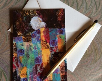 Note Cards - Quilted Woman - JOY