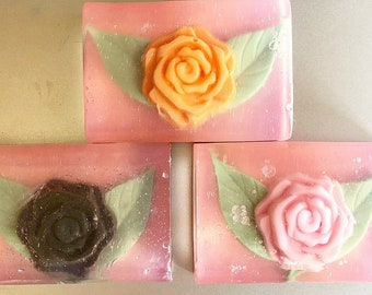 Handmade Rose Soap, Glycerin Soap, Charcoal Soap, Shea Butter Soap, Goats Milk Soap, Mothers Day Gift