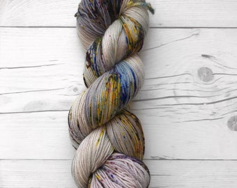 "Maven Sock - ""Hot Mess"" - Fingering Weight - Hand Dyed Yarn"