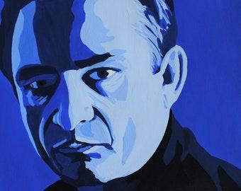 Johnny Cash -Artist Signed Fine Art Print