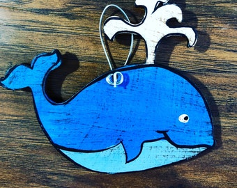Blue Whale Ornament