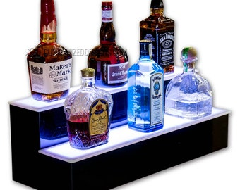 """24"""" 2 Tier LED Lighted Home Bar Shelf - Free Shipping!"""