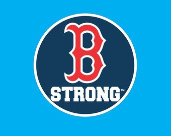 Boston Strong Boston Marathon No Date Circle Decal Sticker Tribute to Fallen & Injured Runners