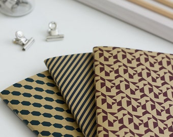 "1 pocket notebook with ""Kraft"" - 1 Pocket notebook ""Kraft"" - art screen printing"