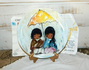 Ettore Ted De Grazia's Children of the Sun Collectible Plate - Sun Showers
