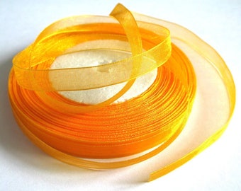 10 m 10mm orange organza Ribbon
