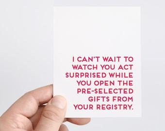 Funny Bridal Shower Card | Wedding Card | Funny Wedding Shower Card | Bridal Shower Gift | Bride to Be Card | Happy Bridal Shower | Surprise