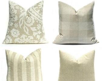 15% Off Sale Pillow Cover Tan Pillow Cream Pillow Cover Decorative Pillow Cover Throw Pillow Cover Natural Pillow Buffalo Check Pillow Accen