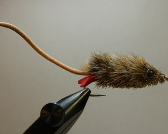 Three (3) Mouse Flies, for Fly Fishing