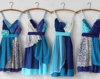 Custom Blue Bridesmaids Dresses