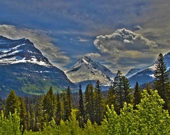 Glacier National Park 8x10 photo (matted)