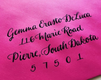 WEDDING CALLIGRAPHY GEMMA : Custom Wedding Calligraphy Envelope Addressing
