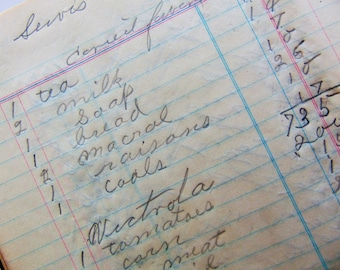 1938 Grocery Store Ledger Cash Book