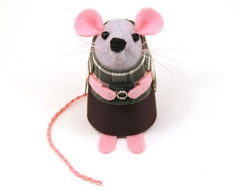 Photographer Mouse - collectable art rat artists mice felt mouse cute soft sculpture toy stuffed plush doll ornament gift for photographer